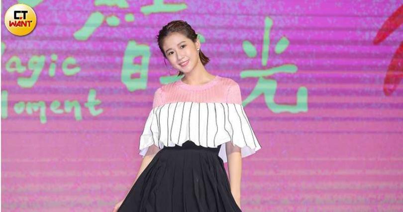方志友主演《粉紅色時光》,記者會上聊起18歲的初戀。(圖/施岳呈攝)