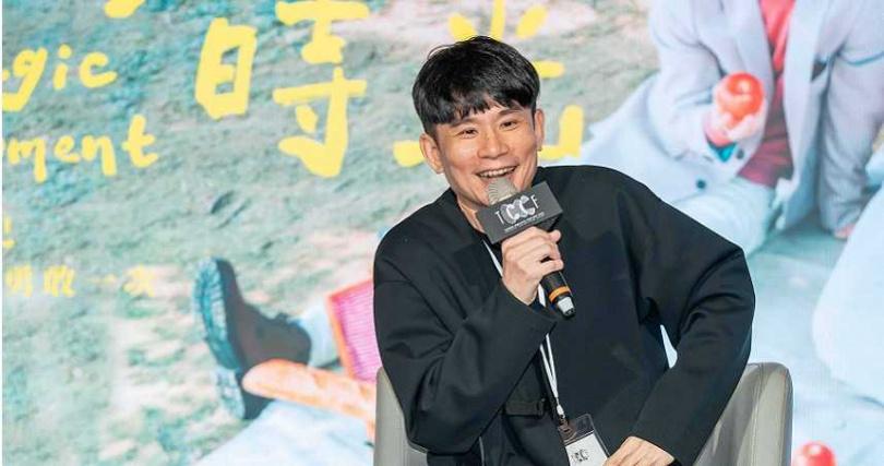 《粉紅色時光》編劇杜政哲記者會上暢談新戲內容。(圖/TVBS提供)