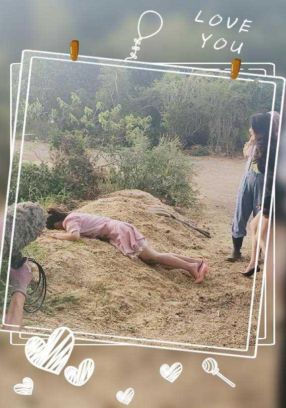 本土劇女星陳子玄最近因為拍戲需求,整張臉「趴」進牛糞裡,她敬業完成任務,自己都覺得好笑。(圖/翻攝臉書)