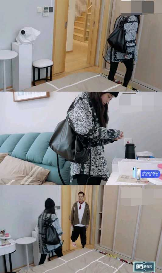 歐陽娜娜偷進別人房間翻衣物和飾品。(圖/百度)