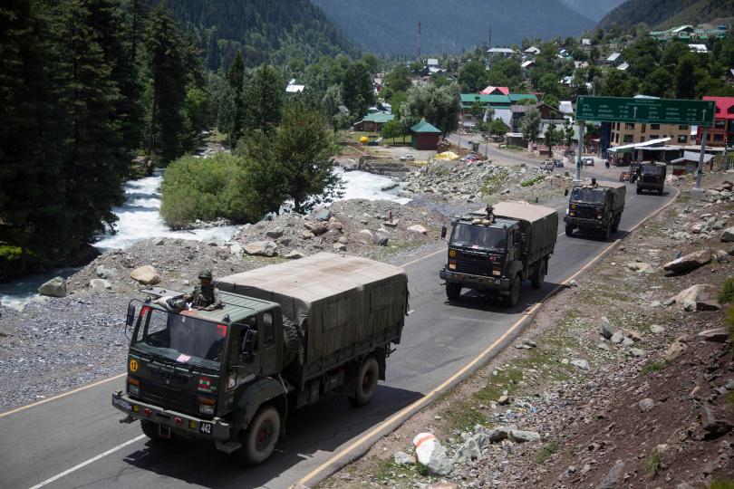 印度軍隊正往拉達克移動。(圖/美聯社)