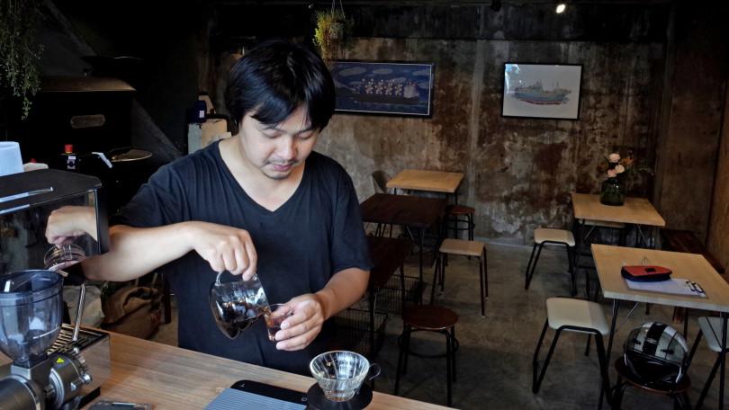 「Ruth咖啡」豆子由老闆自己烘焙。(圖/「Ruth」提供)