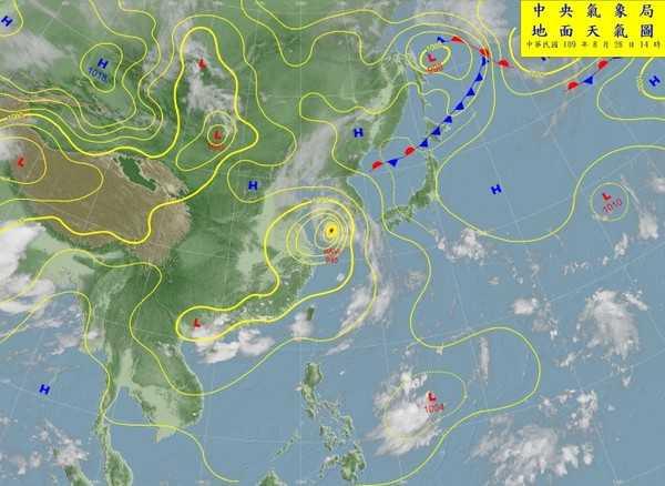 9號颱風「梅莎」可能生成,週日至下週一接近台灣時,東半部、基隆北海岸有雨。(圖/中央氣象局)