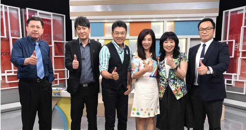 蔣黎麗在謝震武主持節目上,暢談當年閃婚又離婚。(圖/高點綜合台提供)