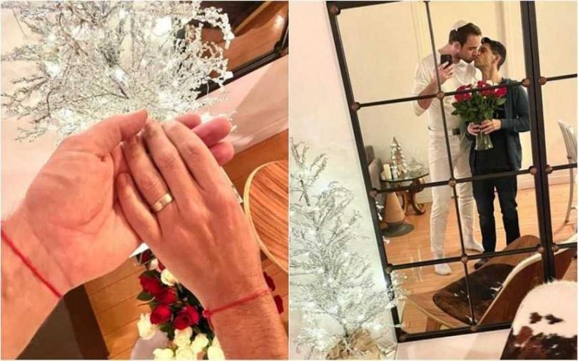 早年曾在《新還珠格格》中飾演英國宮廷畫師「班傑明」而走紅的外籍男星潘傑明,近日宣布已與男友求婚成功,也被證實已經完成婚禮。(翻攝@benjiboyyogaboy IG)