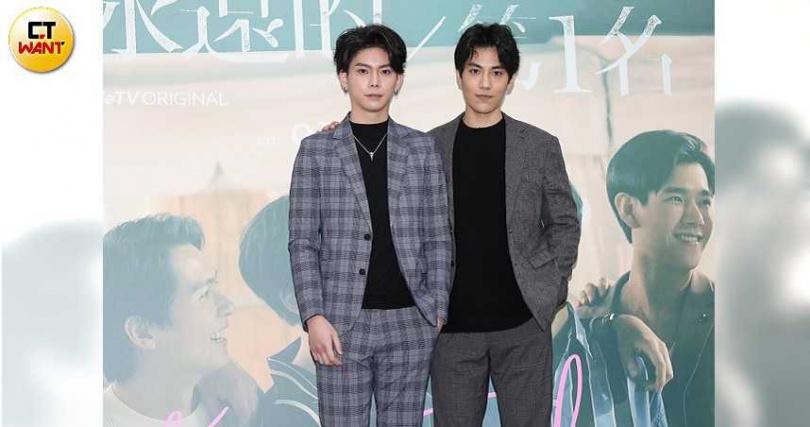 林子閎(右二)、楊宇騰皆是首次接演男男戀題材。(攝影/焦正德)