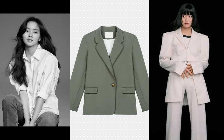 Maje墨綠西裝外套/15,070元(圖/IG、品牌提供)