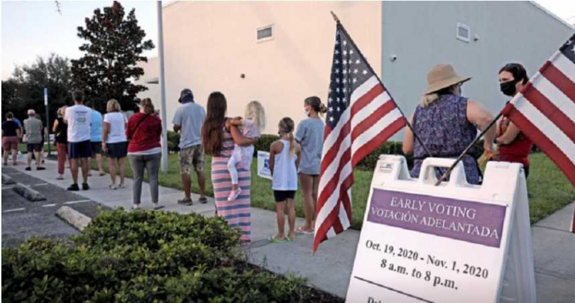 美國社會因為大選而造成的撕裂,恐怕不會在選後就馬上癒合。(圖/Reuters)