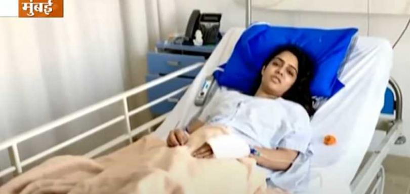 製片人求婚不成砍傷女星!(圖/翻攝自India TV)