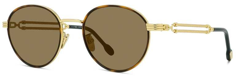 FRED「Force 10」系列,玳瑁金太陽眼鏡╱30,250元。(圖╱FRED提供)