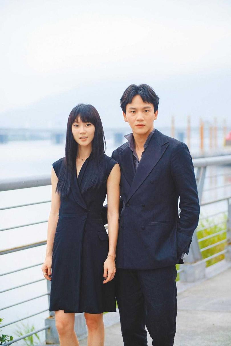 鍾瑶與曹晏豪2019年因合拍電影《詭祭》擦出愛火。(圖/報系資料庫)