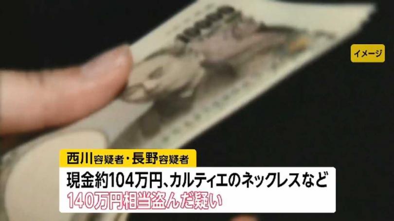 日本警方以「令和的貓眼」稱呼這兩名竊盜犯。(圖/FNN News)