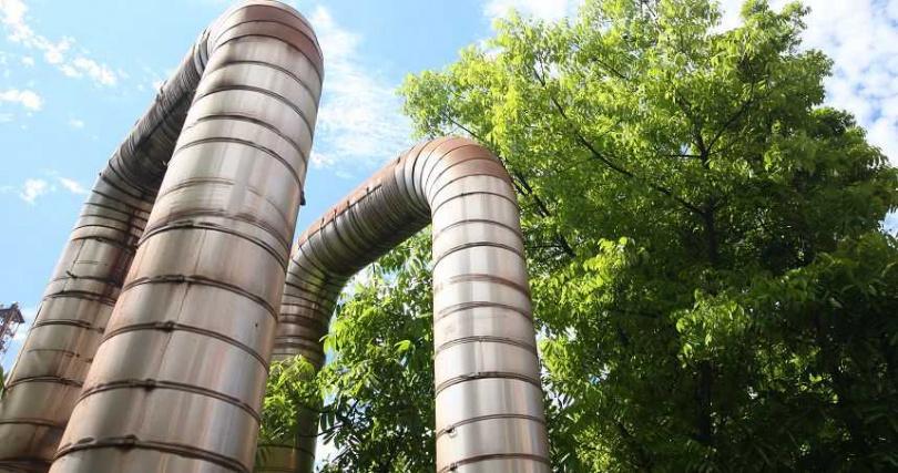 用於區域能源整合之蒸氣外售管。