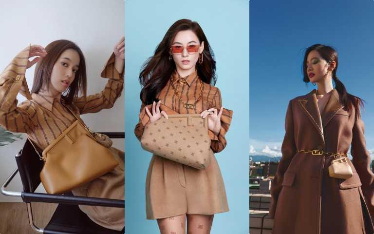 張柏芝、陳庭妮、曾之喬都戴上了FENDI Frist包款與秋冬新裝!(圖/品牌提供)
