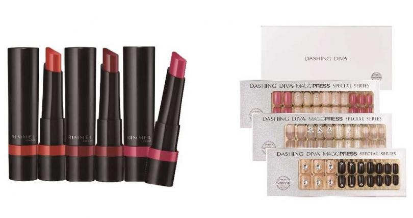 送給火象星座選這些>>Rimmel極致柔霧緞光唇膏、Dashing Diva施華洛世奇聯名禮盒組。(圖/品牌提供)