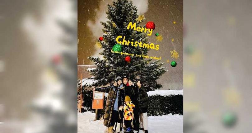 徐若瑄一家人將在台灣度過耶誕節。(圖/翻攝徐若瑄IG)
