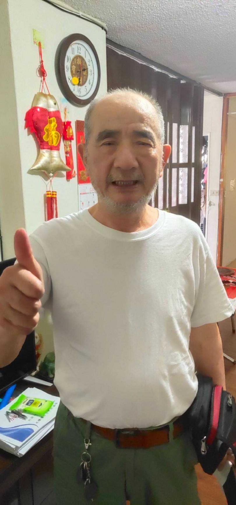 陳維祥已出院返家休養。(圖/陳維祥提供)