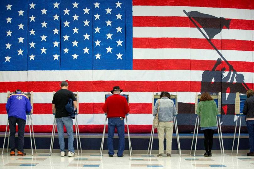 美國大選若陷入混亂,美國海外實力將遭到削弱。(圖/Reuters)