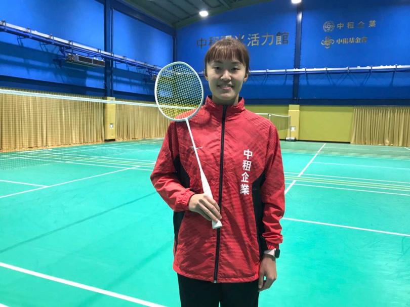 許玟琪本身也是中租企業羽球隊隊員。(圖/李蕙璇攝)