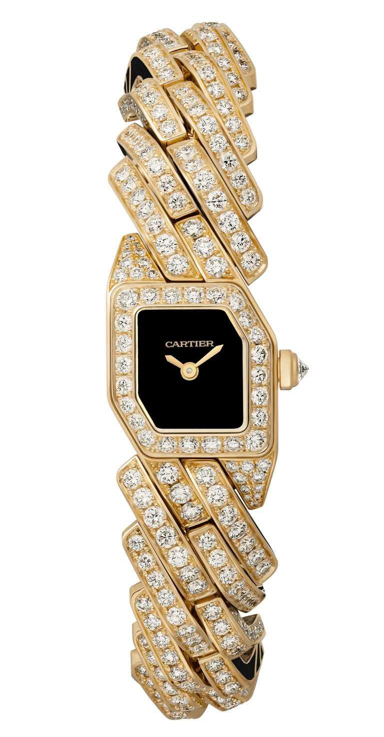 CARTIER「Maillon de Cartier」系列腕錶,黃K金款,限量50只╱3,680,000元。(圖╱CARTIER提供)