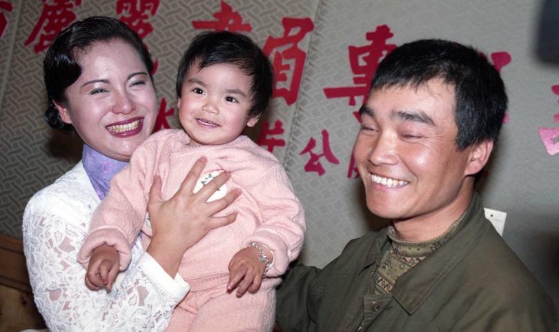 潘麗麗和前夫楊瑞義(右)。(圖/報系資料照)