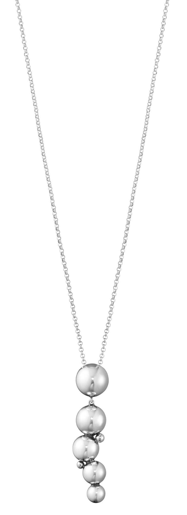 GEORG JENSEN「Moonlight Grapes月光葡萄」系列,純銀項鍊╱8,200元。(圖╱GEORG JENSEN提供)