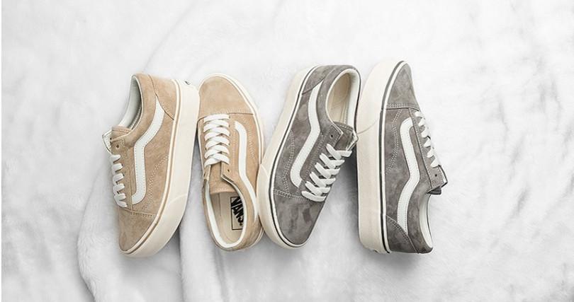 冬季厚底滑板鞋新推出奶茶色及淺灰二色,Old Skool Platform定價為NT2,580。(圖/VANS)