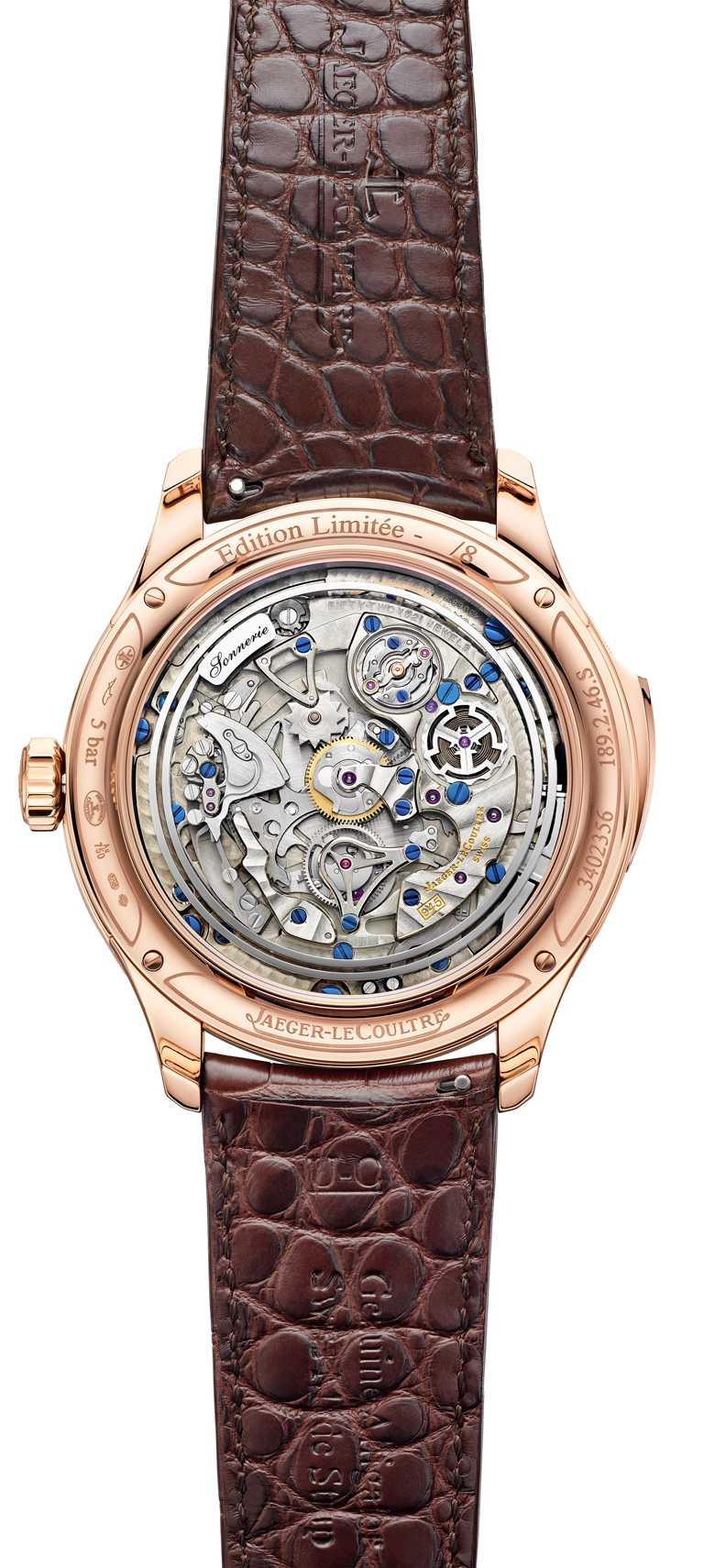 JAEGER-LECOULTRE「Master Grande Tradition超卓傳統大師系列」腕錶╱玫瑰金錶殼,45mm,限量8只╱11,700,000元。(圖╱JAEGER-LECOULTRE提供)