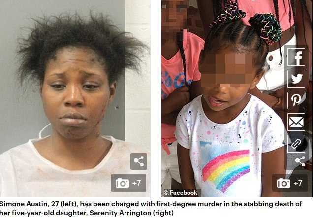 狠心媽持刀殘殺5歲女兒致死。(圖/翻攝自每日郵報)