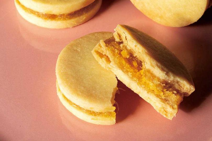 「南洋皇后餅」以歐式牛油餅搭配土鳳梨餡,帶有酸甜層次。(680元/9入)(圖/國家公園餅店提供)