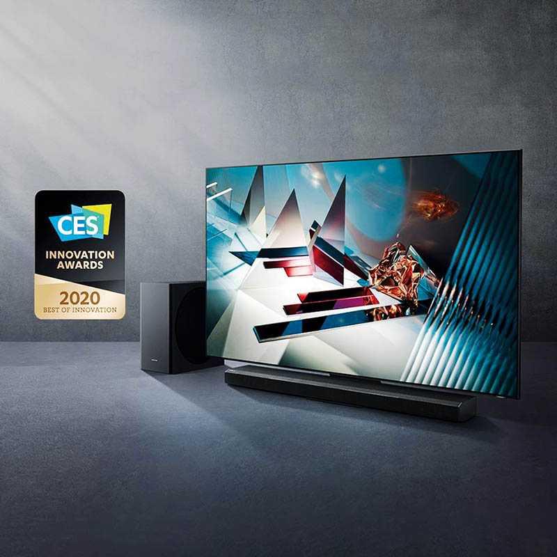 三星QLED 8K量子電視搭載ATSC 3.0調諧器,厚度僅1.5公分,獲得今年度CES「最佳創新獎」。(圖/Samsung提供)