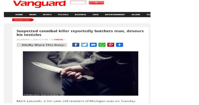 過去在美國密西根也傳出專門閹割男性生殖器官的「人魔」。(圖/Vanguard)