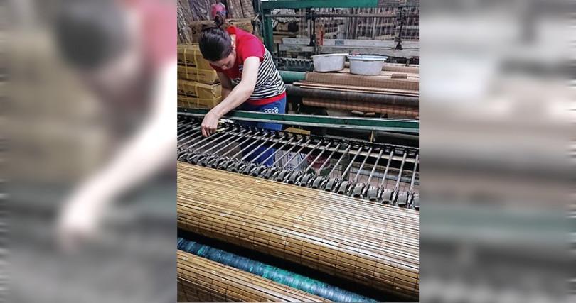 「篁城」竹編工廠自光復期間就營業至今。