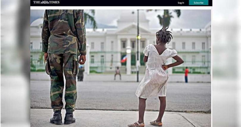 調查發現UN維和人員在海地亂來,私生子眾多。 (圖/翻攝自thetimes.co.uk)