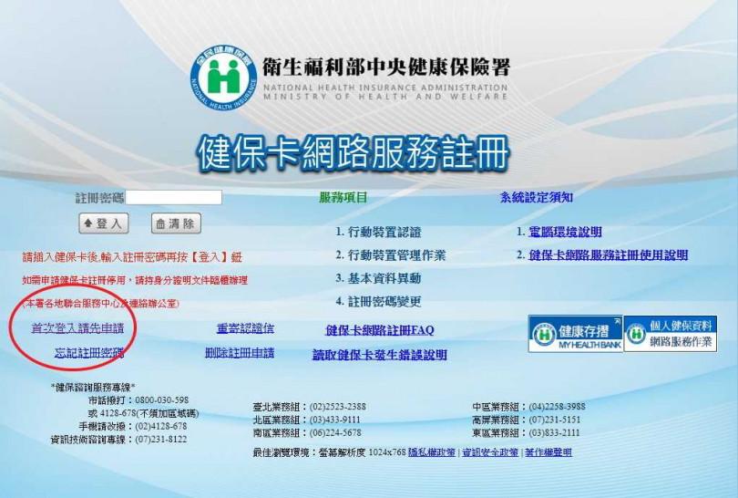 備妥健保卡、晶片讀卡機,到健保署網站進行健保卡網路服務註冊。(圖/衛生福利部)