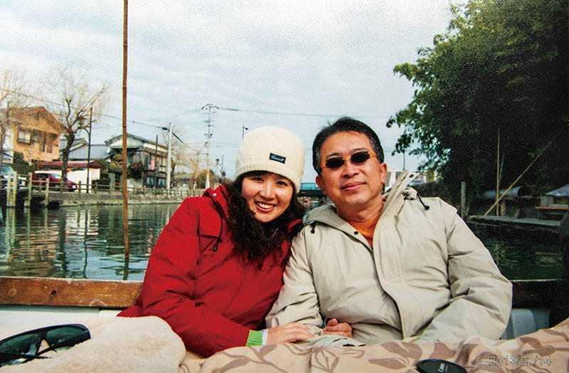 林建宏在世時,每年都與妻子張繼華出國約會,兩人鶼鰈情深,總有說不完的話。(圖/張繼華提供)