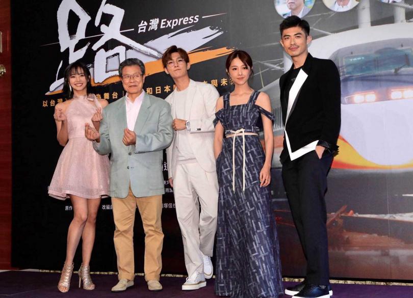 安娜李、楊烈、炎亞綸、邵雨薇和梁正群出席《路》劇首映,暢談與日本團隊拍戲的趣事。(圖/公視提供)