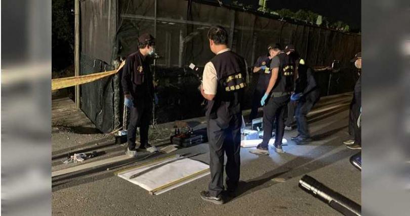 警方29日深夜在歸仁區搜索鍾女。(圖/警方提供)