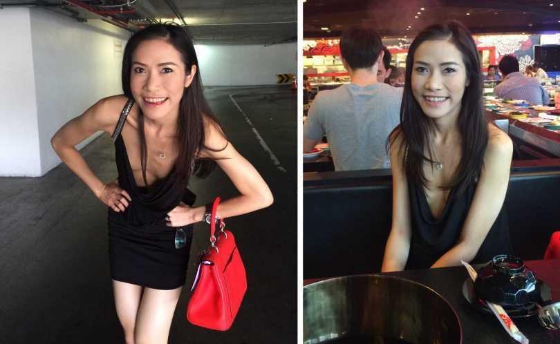 詩妮娜上個月還被流出千張清涼「露毛照」。(圖/翻攝自Pavin Chachavalpongpun臉書)
