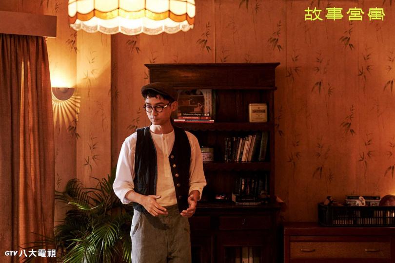 林鶴軒在「故事宮寓」飾演「谿山行旅圖」,有很多手指特寫。(圖/八大電視提供)