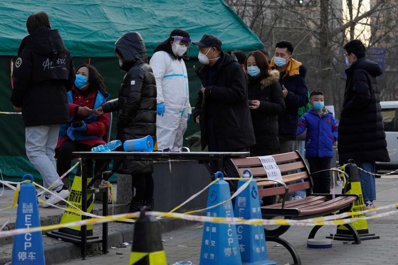 緊鄰大陸首都北京的河北省近日疫情嚴峻。(圖/達志/美聯社)