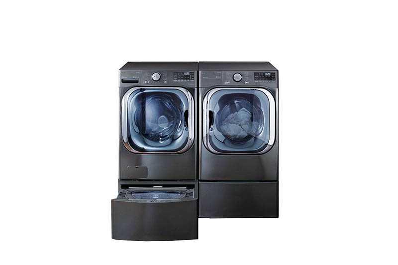 LG洗衣機可自動在洗滌行程中最適合的時間點,加入精確比例的洗衣精和柔軟精,減少對於洗劑用量的估算。(圖/LG提供)