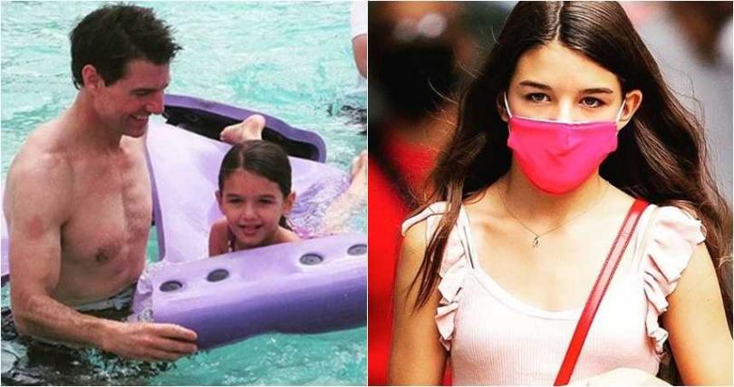 好萊塢男星湯姆克魯斯的女兒舒莉,小時候模樣可愛,現在已經14歲的她,是個美麗的小少女。(圖/翻攝IG)