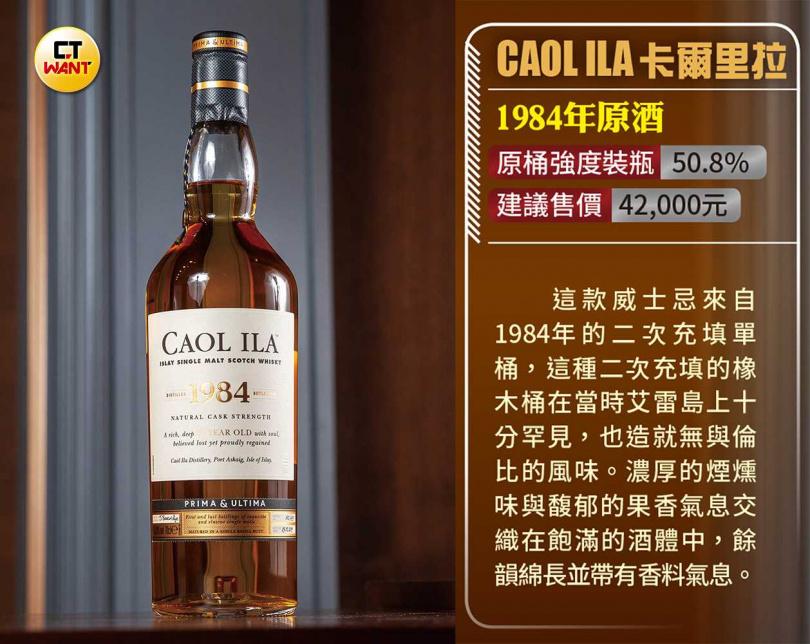Caol Ila卡爾里拉1984年原酒(圖/黃耀徵攝)
