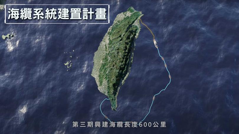 海纜長度超過600公里的地震與海嘯海纜觀測系統,北起宜蘭外海,南至屏東坊山,可以為地震預測多爭取10秒時間。(圖/氣象局)