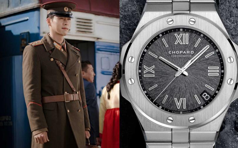 《愛的迫降》劇中多次出現的關鍵證物,Chopard「Alpine Eagle」系列時尚運動腕錶╱428,000元。(圖/Neflix、品牌提供)