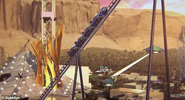 沙烏地阿拉伯的「六奇奇地亞」主題樂園將打造世界最快的雲霄飛車。(圖/翻攝自sixflags官網)