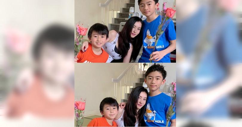 張柏芝獨自扶養兩個孩子,為人母的她十分盡心。(圖/翻攝自張柏芝微博)