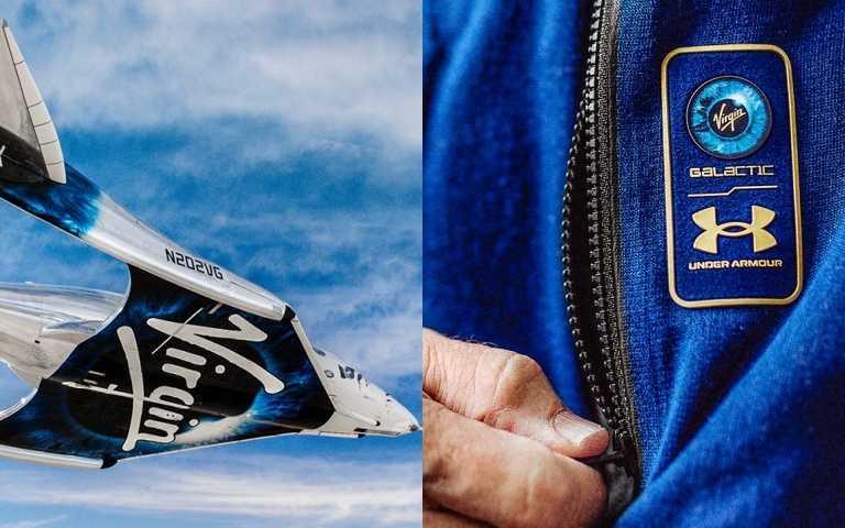 由Virgin Galactic 維珍銀河創辦人布蘭森親自搭乘的太空船,在7月11日成功達到太空邊緣並安全折返。UNDER ARMOUR攜手維珍銀河打造專門團隊,在經典太空服裝加入獨特品牌風格,塑造下一代太空旅行者的著裝概念。(圖/品牌提供)
