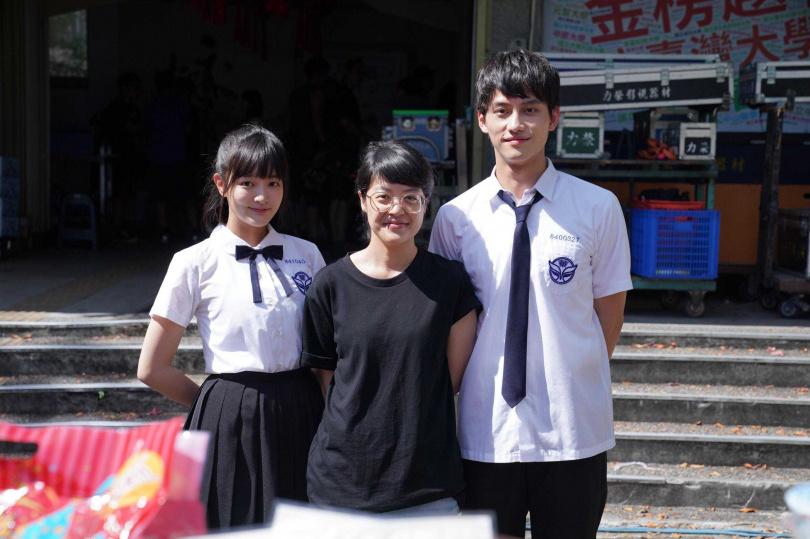 《比悲傷更悲傷的故事》影集開鏡,演員王淨(左起)、導演謝沛如、范少勳。